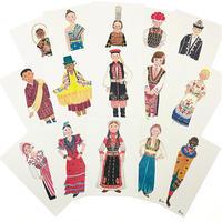 世界の民族衣装 ポストカード 15枚セット