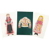 ルーマニア カロタセグ地方の民族衣装ポストカード 3枚セット