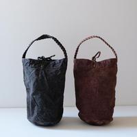 丸底編み手トート/柿渋