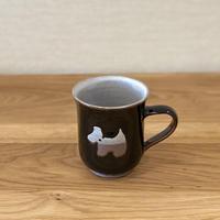 いぬマグカップ(黒)