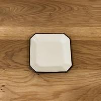 隅切皿 (4寸・白)