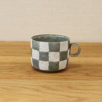 切立マグカップ(市松模様)