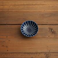 ぎやまん陶〜丸小皿〜 茄子紺ブルー