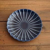 ぎやまん陶〜7寸皿〜 茄子紺ブルー