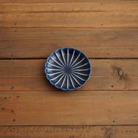 ぎやまん陶〜3寸皿〜 茄子紺ブルー