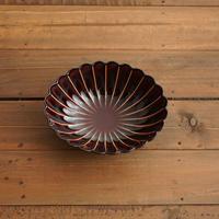 ぎやまん陶〜楕円鉢〜 漆ブラウン