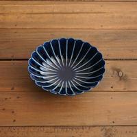 ぎやまん陶〜楕円鉢〜 茄子紺ブルー