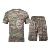【星空・叢林迷彩】体操服 訓練用インナーシャツ Tシャツ 短パン 上下セット