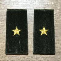 【コレクター商品】中国人民解放軍87式 陸軍 少将 筒式肩章(1992年~)