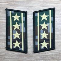 【大校】中国人民解放軍07式迷彩服用 林地迷彩柄 襟章 階級章