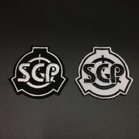 【直径5.5cm】黒・白 SCP財団シンボル ミニワッペン