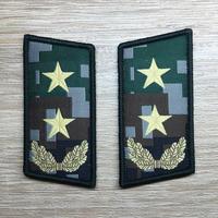 【中将】中国人民解放軍07式迷彩服用 林地迷彩柄 襟章 階級章