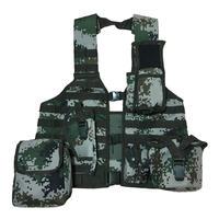 【実物】中国人民解放軍06式通用単兵携行具 林地迷彩 幹部配置セット