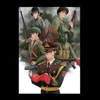 【新風社作品】中国軍 WW2ー2019  タペストリー 100cmx141.4cm