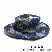 中国人民解放軍 海軍熱帯岛礁帯支給品 海洋迷彩ブーニーハット 帽子