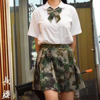 【長纓】林地迷彩 スカート+リボンセット