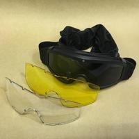 【本職オーダー品】中国人民解放軍 ゴーグル レンズ付きセット