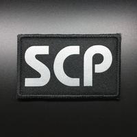 【8cmX5cm】SCP財団 シンボル 反射文字 刺繍ベルクロワッペン マジックテープ 識別章