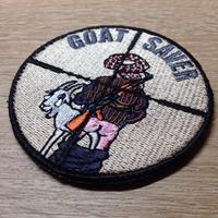 「GOAT SAVER」刺繍 ベルクロワッペン
