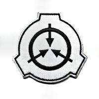 【直径6.5cm】SCP財団 シンボル白 刺繍ベルクロワッペン マジックテープ 識別章