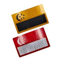シンガポール 国旗 ベルクロワッペン