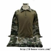 中国人民解放軍 林地迷彩コンバットシャツ上下セット 実物メーカー2019年製品