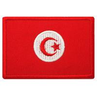 チュニジア 国旗 ベルクロワッペン マジックテープ パッチ