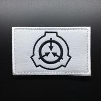 【8cmX5cm】SCP財団 シンボル 刺繍ベルクロワッペン マジックテープ 識別章