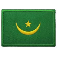 モーリタニア 国旗ベルクロワッペン マジックテープ パッチ