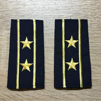 【コレクター商品】中国人民解放軍87式 海軍 中校 筒式肩章(1988年~1992年)