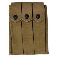 【WW2米軍】トンプソンM1短機関銃用3連マガジンポーチ 複製品