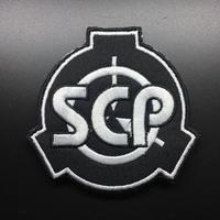 【直径6.5cm】SCP財団 シンボル黒 刺繍ベルクロワッペン マジックテープ 識別章