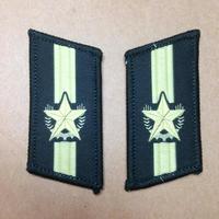 中国人民解放軍07式迷彩服用襟章 人民武装