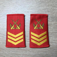 【二級軍士長】中国人民武装警察 07式夏制服用 筒型肩章 階級章