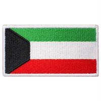 クウェート 国旗 ベルクロワッペン マジックテープ パッチ