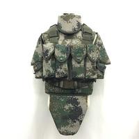 中国人民解放軍 国際派遣 PKO標準装備 林地ボディーアーマー レッグパーネル2種類付きセット