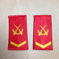 【中士】中国人民武装警察 07式夏制服用 筒型肩章 階級章
