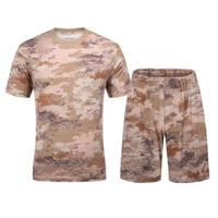 【星空・荒漠迷彩】体操服 訓練用インナーシャツ Tシャツ 短パン 上下セット