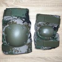 中国人民解放軍 07式 林地迷彩 パットセット 肘膝防具