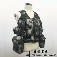 【実物】中国人民解放軍06式通用単兵携行具 林地迷彩 兵士配置セット