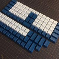 DSA PBT ERGO 95 Keycap Set(無印字/ホワイト/ネイビー)