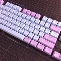 Translucent Double Shot 104 Keycap Set (LightBlue/Purple)