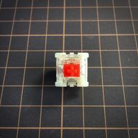 Gateron サイレントキースイッチ Red(トップクリア/5ピン/45g/リニア/10個1セット)