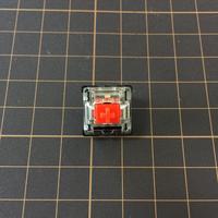 Gateron キースイッチ Red(トップクリア/5ピン/45g/リニア/10個1セット)