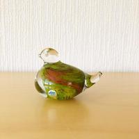 ハンドメイドガラスの小鳥のオブジェ/Ekenäs Glasburk/エケネース ガラス工房
