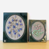 Jie Gantofta/ジィガントフタ/陶板/カンパニュラの花、リネアのお花/2枚セット
