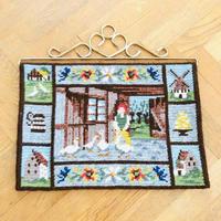 タペストリー/トゥヴィスト刺繍/スコーネ地方のお家
