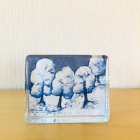 iittala/イッタラ/Helja Liukko-Sundström/ヘルヤリウッコ-スンドストローム/クリスタルガラスのカード/Sillence of the Snow/大