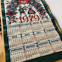 Almedahls/アルメダールス/布地壁掛けカレンダー/1979年