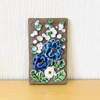 Jie Gantofta/ジィガントフタ/陶板/白い小花とブルーのお花柄